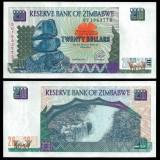 !!! RARR : ZIMBABWE - 20 DOLARI 1997 - P 7 - UNC, Africa
