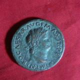 Sestert Imparat Nero -revers Roma- Copie veche, bronz, cal.f.buna, f.rara - Moneda Antica