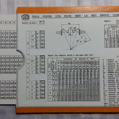 RIGLA DE CALCUL PENTRU ROTI DINTATE - FORMAT 20 X 15 CM - 2 PIESE, 1 MOBILA