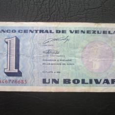 Bolivia . 1 bolivar . 1989 - bancnota america