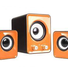 Sistem audio 2.1 Tracer Omega USB Orange - Boxe PC
