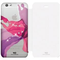 Husa Flip Cover White Diamonds 98555 Liquids roz pentru Apple iPhone 6 - Husa Telefon
