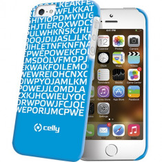 Husa Protectie Spate Celly Clove185Bl Hidden Message albastra pentru Apple iPhone 5 / 5S - Husa Telefon Celly, iPhone 5/5S/SE