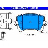 Set placute frana spate VW Golf 5 V fabricat in perioada 10.2003 - 02.2009 ATE 13.0460-2749 .2