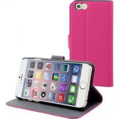 Husa Flip Cover Muvit 96889 Wallet roz pentru Apple iPhone 6 - Husa Telefon