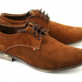 Pantofi barbati casual - eleganti din piele naturala intoarsa - PH857MD2, Marime: 43