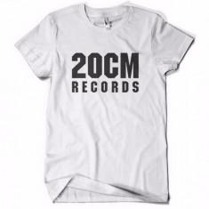 Tricou 20 CM RECORDS PARAZITII 20CM rap hip hop pe spate Parazitii - Tricou barbati, Marime: S, Culoare: Alb
