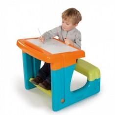 Birou bancuta cu accesorii Albastru Smoby - Masuta/scaun copii