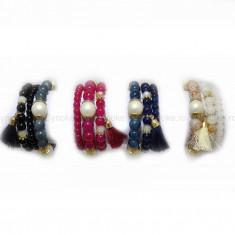 Bratara Summer Pearls (Culoare: albastru inchis) - Bratara Fashion