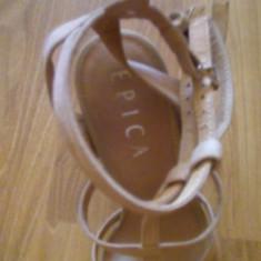 Sandale Epica - Sandale dama Epica, Marime: 38, Culoare: Crem