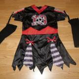 Costum carnaval serbare schelet pirata pentru copii de 6-7 ani - Costum copii, Marime: Masura unica, Culoare: Din imagine
