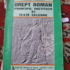 DREPT ROMAN PRINCIPII, INSTITUTII SI TEXTE CLELBRE TEODOR SAMBRIAN - Carte Teoria dreptului
