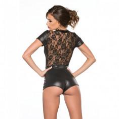 Kitten Body Jumper Latex si Dantela - Lenjerie sexy femei