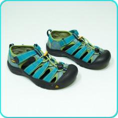 DE FIRMA _ Sandale / pantofi vara, PIELE, calitate KEEN _ baieti, fete | nr. 35 - Sandale copii Keen, Culoare: Albastru, Unisex, Textil
