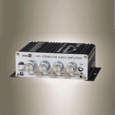 MINI amplificator auto, 2 canale, 40 W, radio FM incorporat. (MA-140)