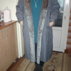 Palton iarna XL - Palton dama, Marime: 48, Culoare: Gri