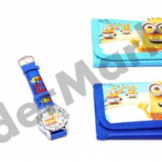 Set ceas de mana si portofel Minion Despicable Me2 - Ceas copii Disney