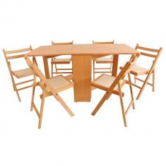 Set masa plianta MD1 cu 6 scaune pliante