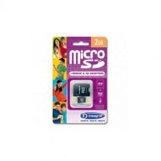 Card Integral MicroSD 2GB cu adaptor - Card memorie