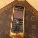 Vertu cu doua linii de diamanté estimabil 28000 mii euro - Telefon mobil Vertu, Negru, Neblocat, 8GB