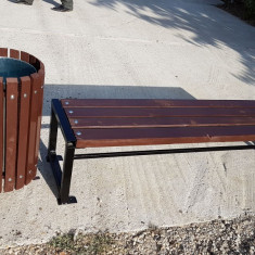 Banca parc fara spatar - Banci de gradina