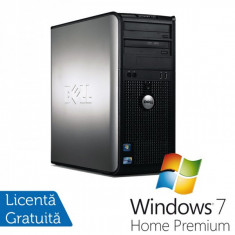 Dell Optiplex GX780 Tower, Intel Core 2 Quad Q9550, 2.83GHz, 4Gb DDR3, 250GB SATA, DVD-RW + Windows 7 home Premium - Sisteme desktop fara monitor