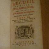 1750 - Recueil de Pieces D'Eloquence - Tome III - Carte veche